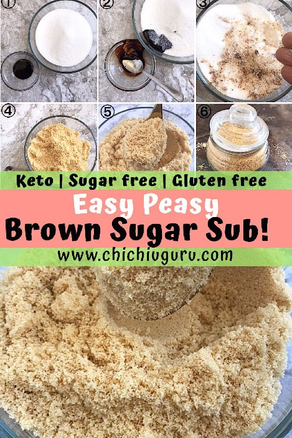Homemade Sugar free Brown sugar
