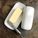 homemade butter in a butter dish
