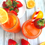 Easy Sugar free Strawberry Lemonade