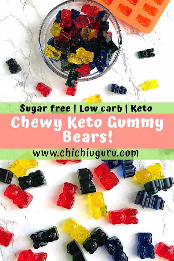 Easy Chewy Keto Gummy Bears - Low Carb Health Club