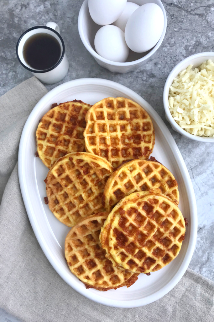 Easy Keto Chaffles served in a plate