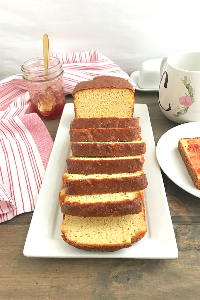 low carb almond bread slices