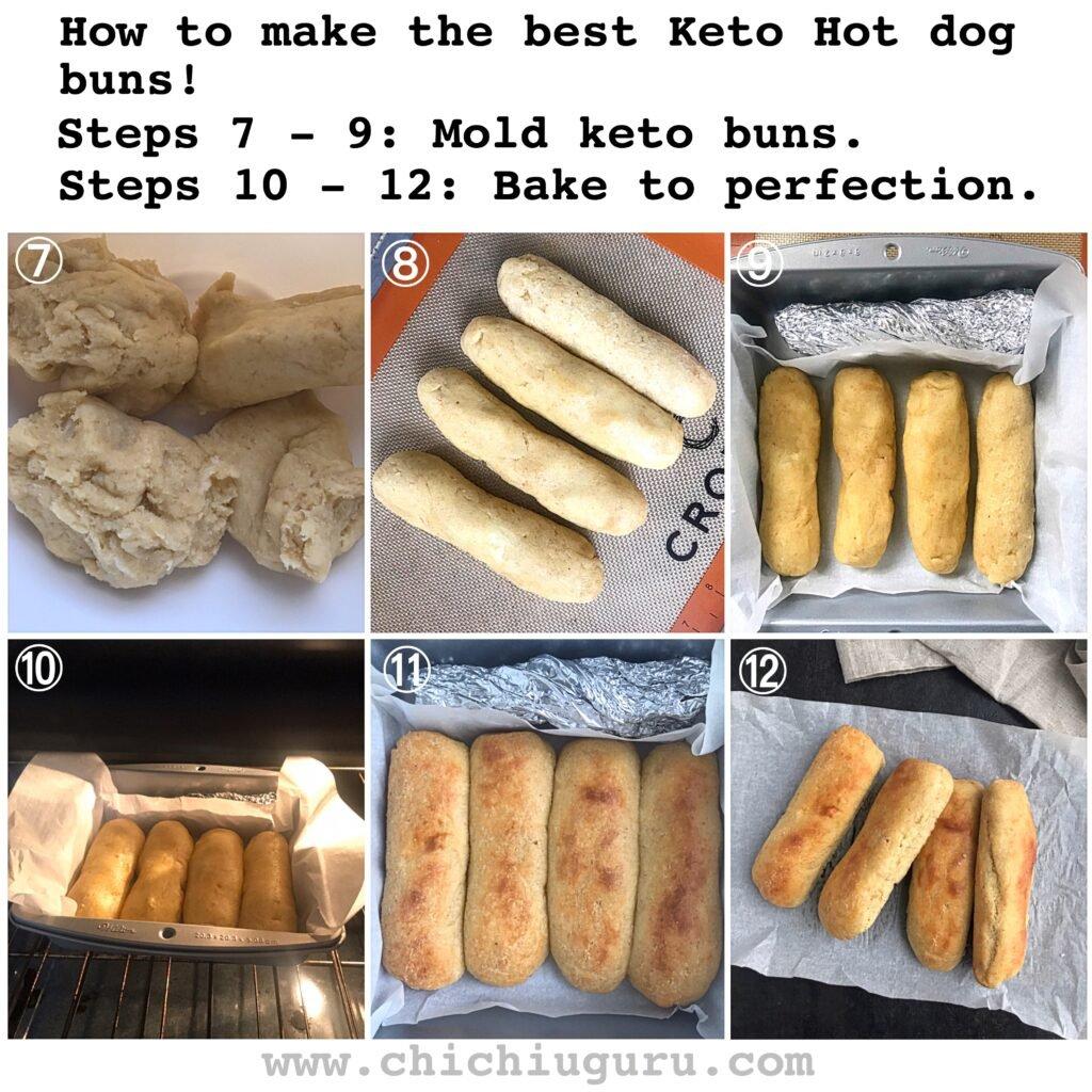 keto hot dog buns instructions