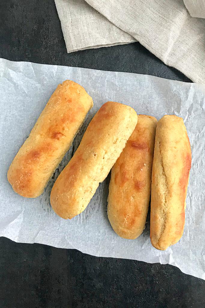 4 plain keto hot dog buns