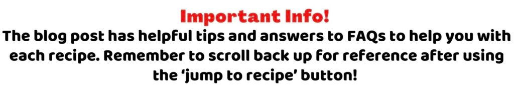 jump to recipe information